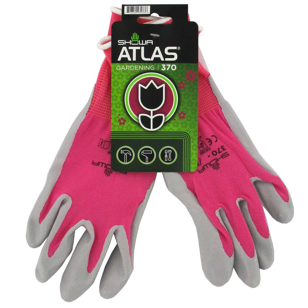 GLOVE GDN FUCHSIA W/TAG Showa Atlas 370 Garden Gloves, Tagged