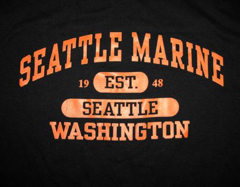 0275glbk lg t shirt l s sea logo bk or lg seattle marine for Seattle marine and fishing supply