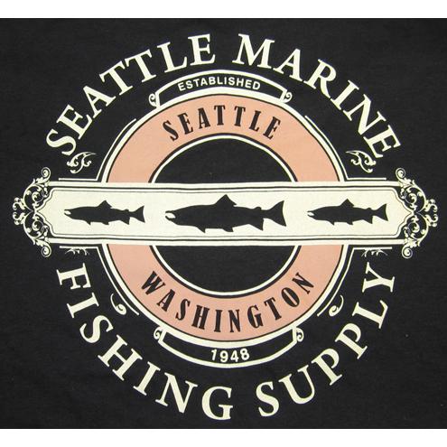 0281gl blk md t shirt seamar logo black md seattle marine for Seattle marine and fishing supply