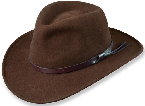 e8fda509 Dorfman DF6-KHAKI Hat Wool Felt Outback Khaki | Seattle Marine