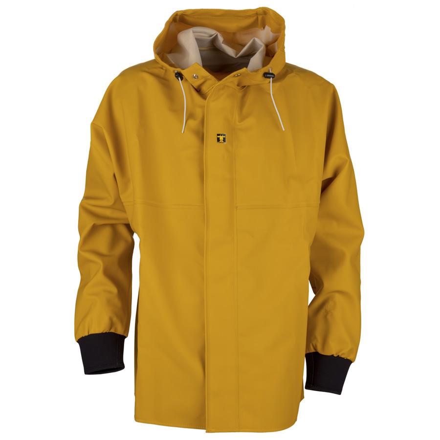Mens Gold /& BLUE SYSTEMS JACKET~Medium Large~NWT~REVERSIBLE Rain Coat~LINED~Hood